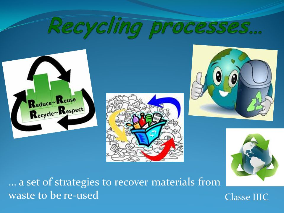 … a set of strategies to recover materials from waste to be re-used Classe IIIC