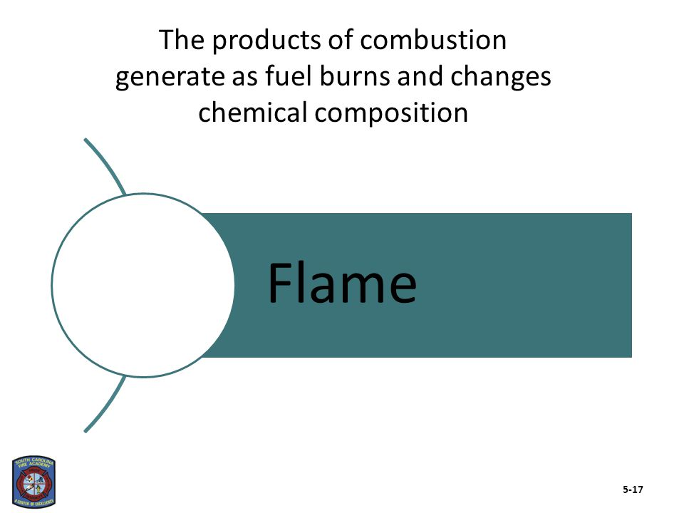 Kinetic energy transfers from high-temperature to low-temperature substance Always in transit Thermal kinetic needed to release potential chemical energy in fuel Vibrates molecules in fuel leading to break down, release of vapors Thermal energy (heat) is the energy element in both fire models 5-18