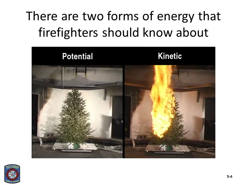 There are two forms of energy that firefighters should know about 5-4
