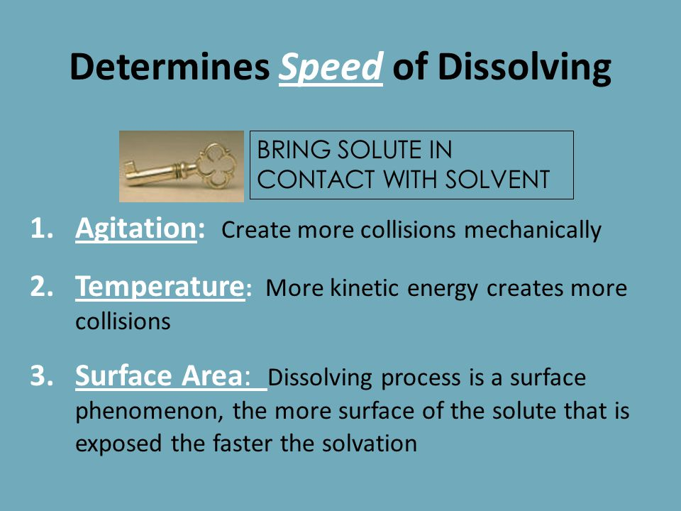 Determines IF Solute Will Dissolve... Like dissolves like: Polar molecules will solvate with polar molecules. Nonpolar molecules will solvate with non
