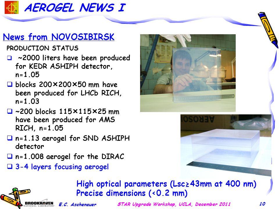 AEROGEL NEWS I E.C.