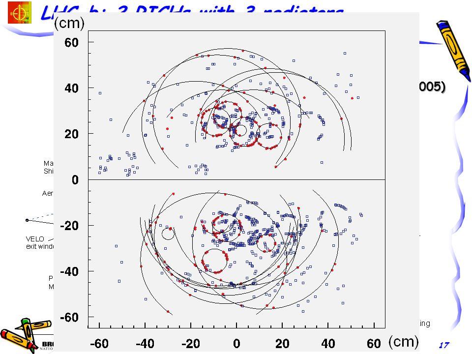 E.C. Aschenauer STAR Upgrade Workshop, UCLA, December 2011 17 RICH-1 (modern HERMES RICH) RICH-2 2<p<60 GeV 17<p<100 GeV 25-300 mrad 10-120 mrad 5cm A