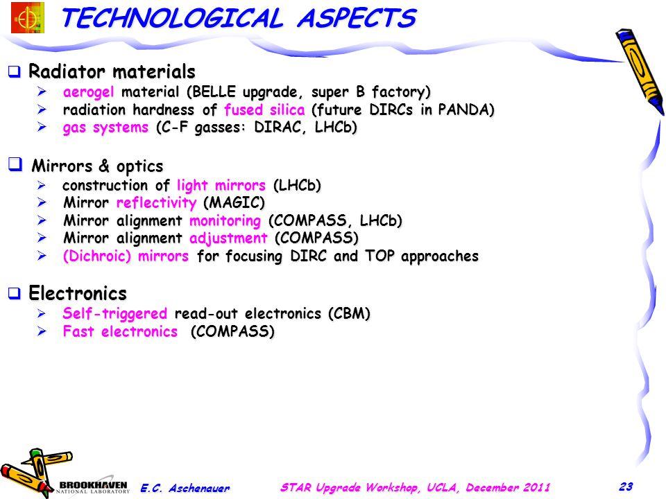 TECHNOLOGICAL ASPECTS E.C.