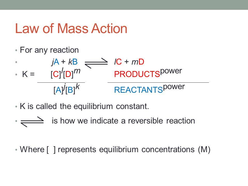 Consider the Equilibrium: 2SO 2 (g) + O 2 (g) 2SO 3 (g) K p = (P SO3 ) 2 (P SO2 ) 2 (P O2 ) K = [SO 3 ] 2 [SO 2 ] 2 [O 2 ] Equilibrium and Pressure