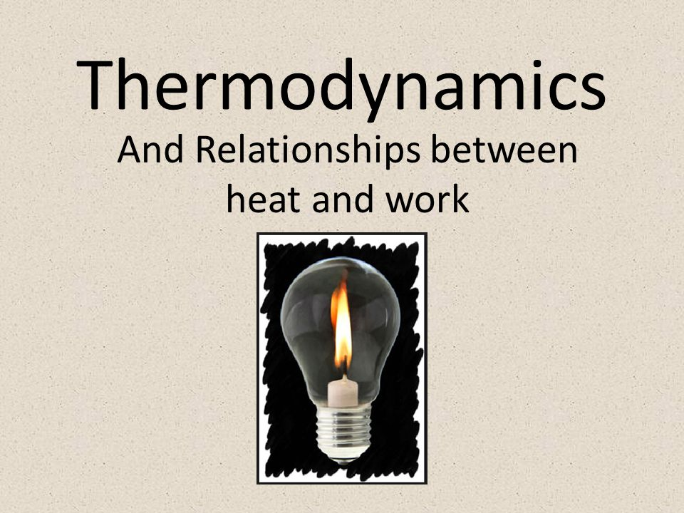 Thermodynamics And Relationships between heat and work