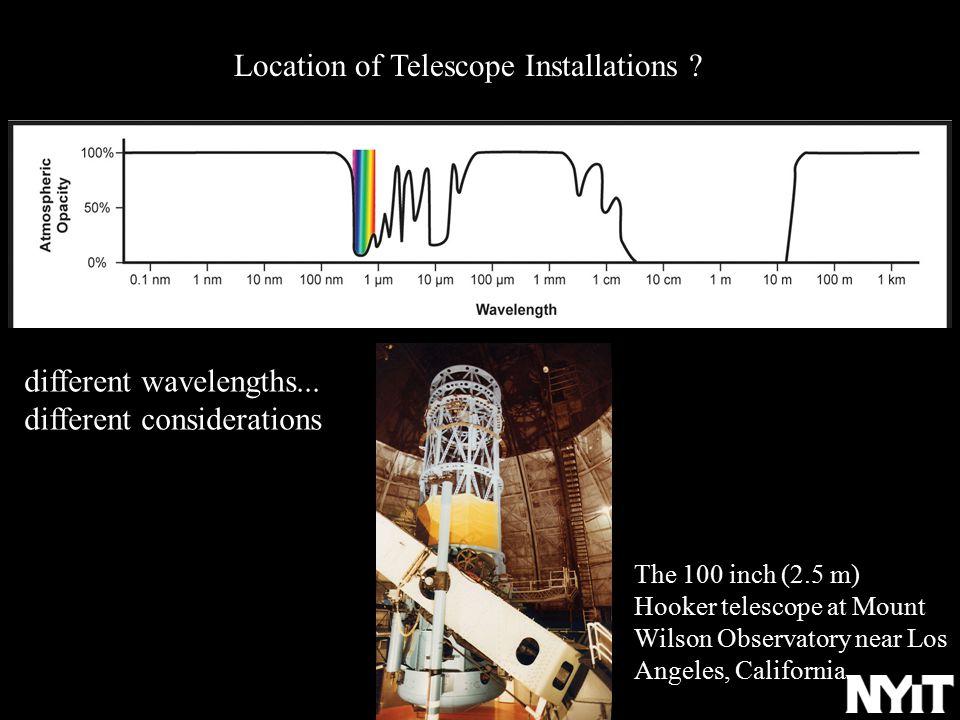 Location of Telescope Installations .