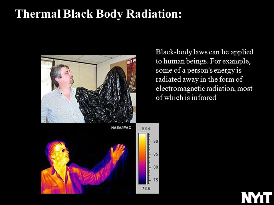 Black-body laws can be applied to human beings.