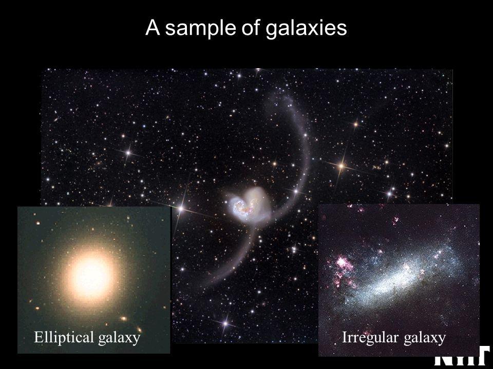 A sample of galaxies Elliptical galaxyIrregular galaxy
