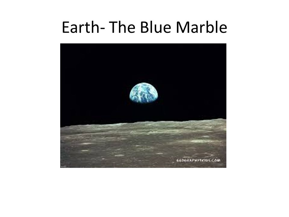 Earth- The Blue Marble