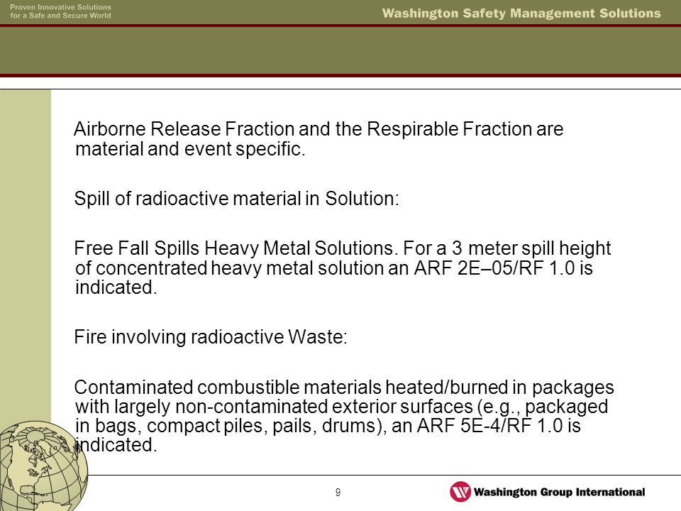 10 The leak path factor is based on factors that may filter or reduce the release.