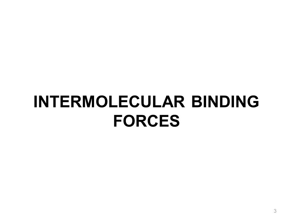 INTERMOLECULAR BINDING FORCES 3