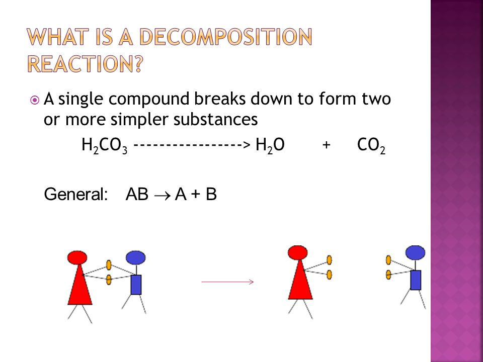  Which reaction is a decomposition reaction.