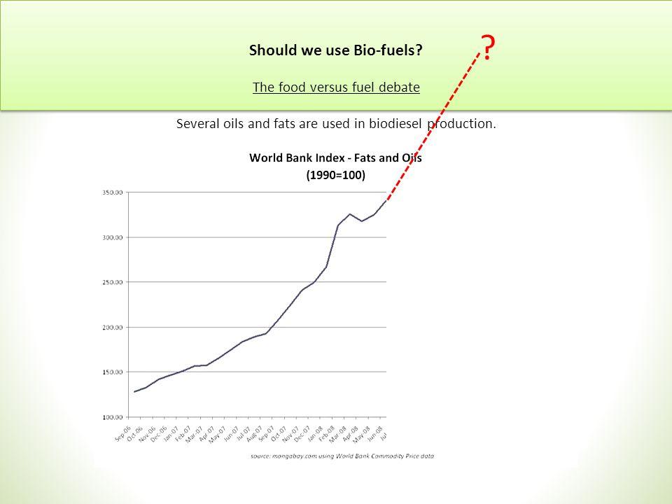 Should we use Bio-fuels.
