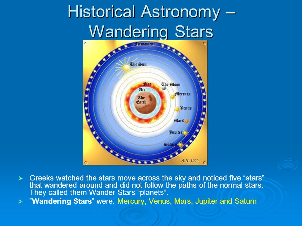Historical Astronomy -Ptolemy  Ptolemy – geocentric, believed Earth was the middle of the whole universe