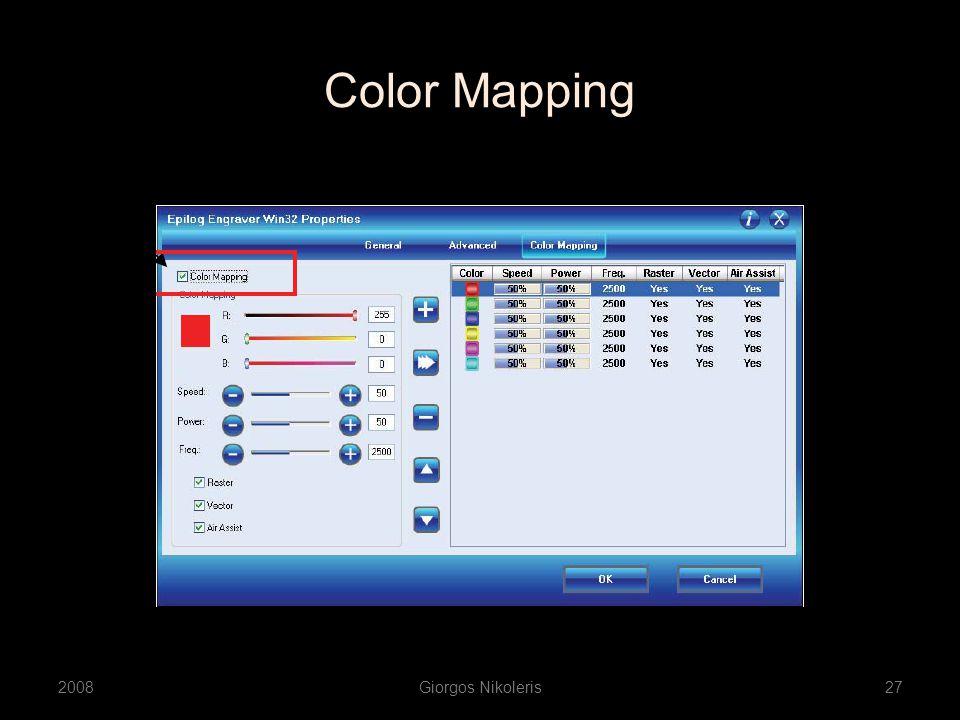 Color Mapping 2008Giorgos Nikoleris27