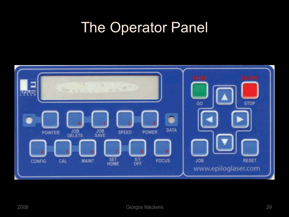 The Operator Panel 2008Giorgos Nikoleris29