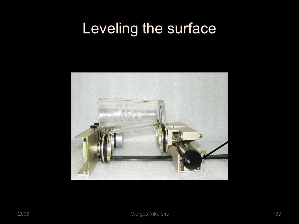 Leveling the surface 2008Giorgos Nikoleris33