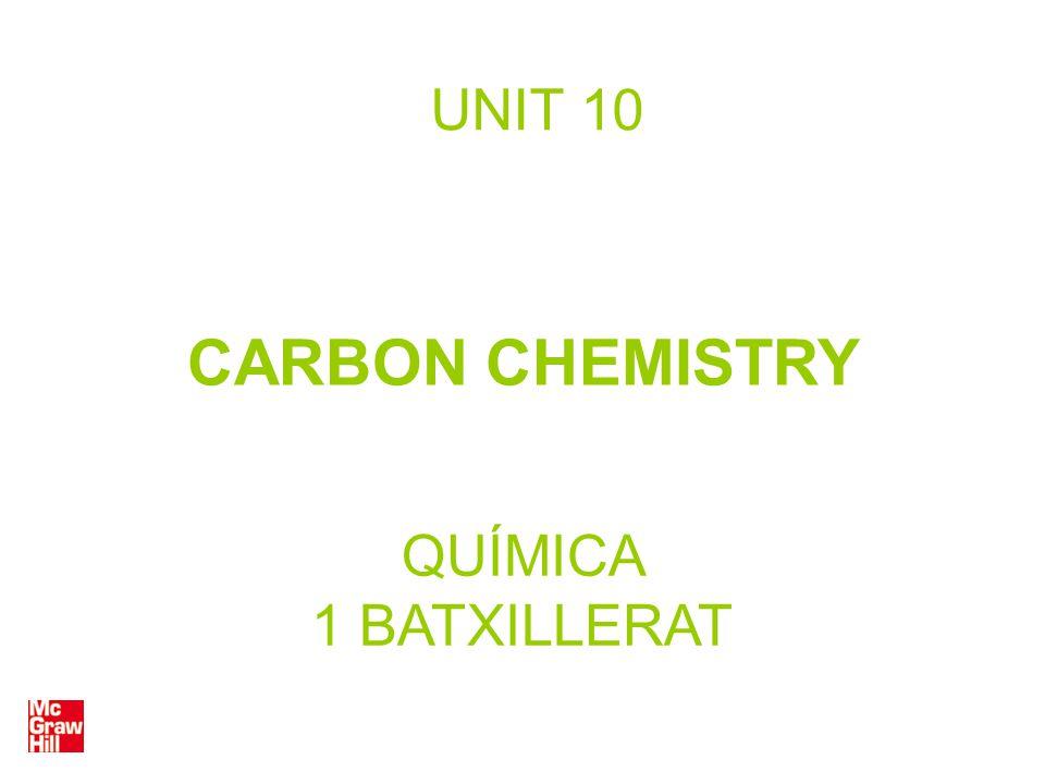 UNIT 10 CARBON CHEMISTRY QUÍMICA 1 BATXILLERAT