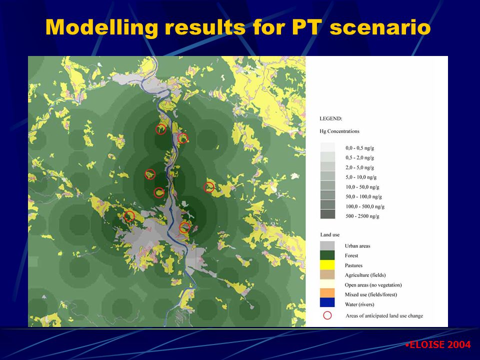 Modelling results for PT scenario ELOISE 2004
