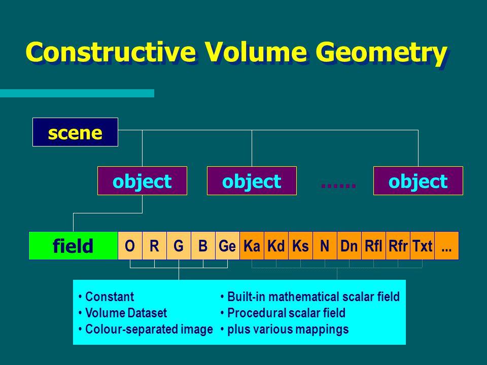 Constructive Volume Geometry scene object......