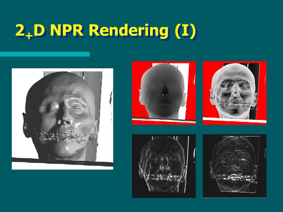 2 + D NPR Rendering (I)