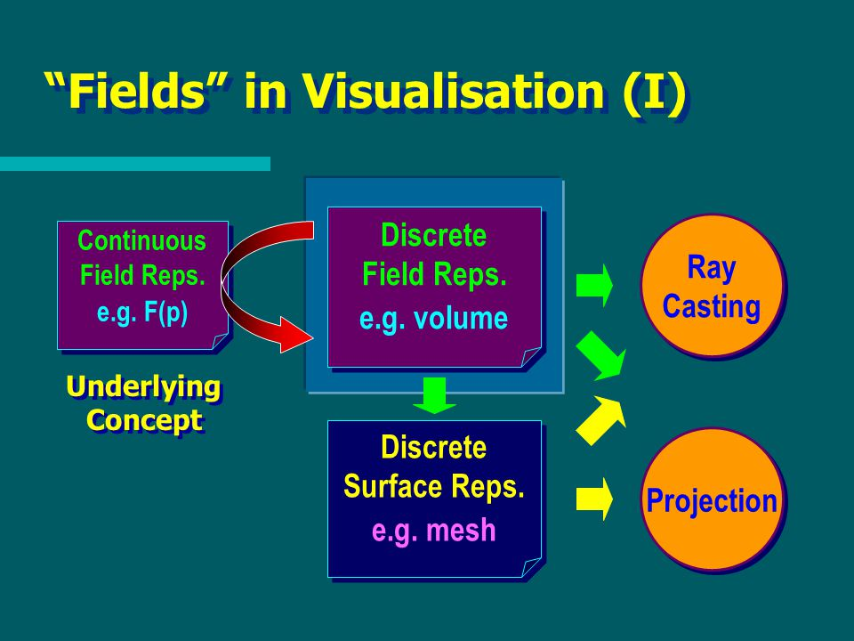 Fields in Visualisation (I) Discrete Surface Reps.