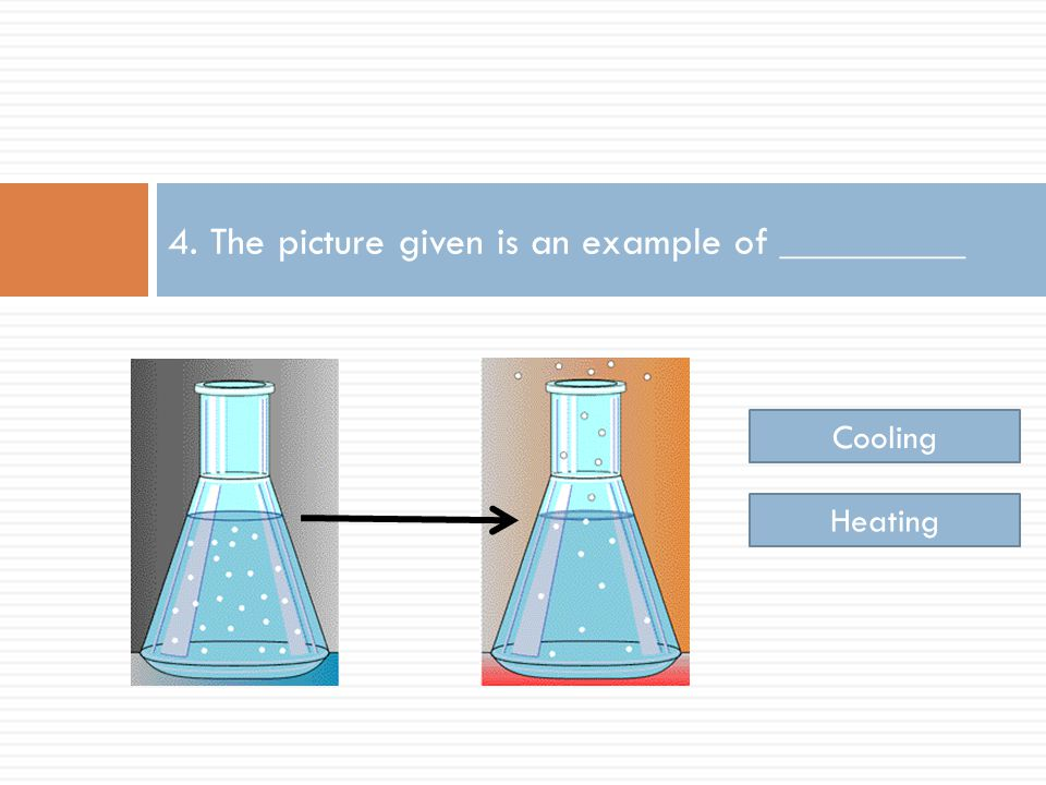 4. The picture given is an example of _________ Cooling Heating
