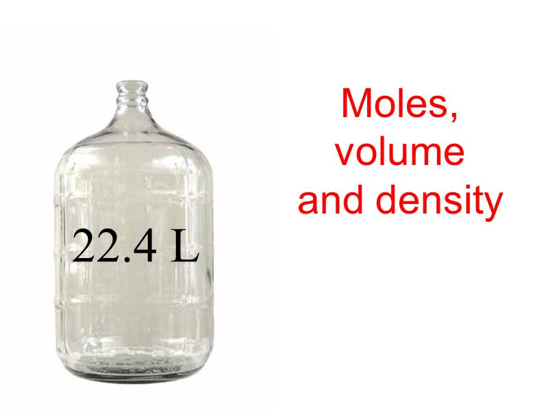 Calculate the volume of a given mass of a gaseous substance from its density at a given temperature and pressure.