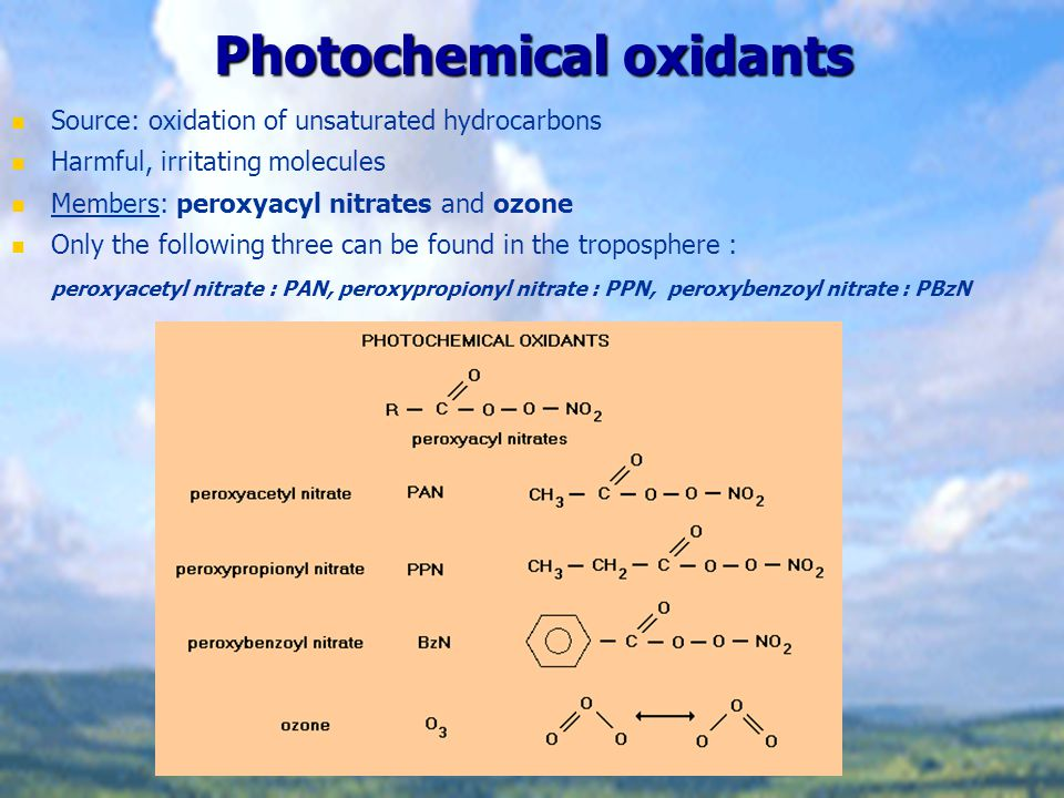 Hydrocarbons, photochemical oxidants, effect on Humans Aliphatic hydrocarbons are not toxic at ambient concentrations.