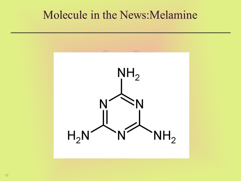 13 Molecule in the News:Melamine