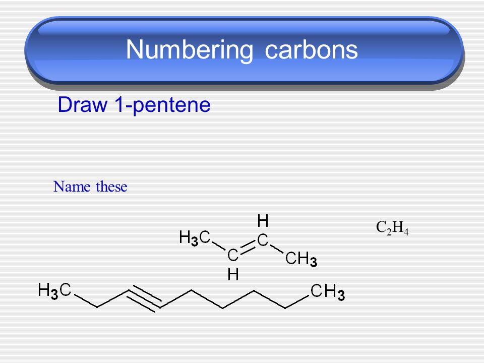 Naming side chains ethyl methyl Step 7 - Place the side chains in alphabetical order & name the compound