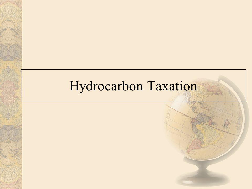 Hydrocarbon Taxation