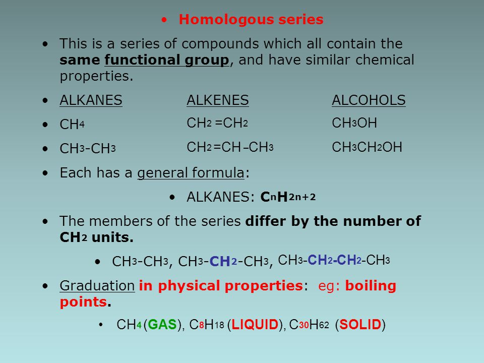 Rules for Naming Alkanes (Nomenclature) For a branched hydrocarbon, the longest continuous chain of carbon atoms gives the root name for the hydrocarbon 1 2 3 4 4 carbon chain = butane