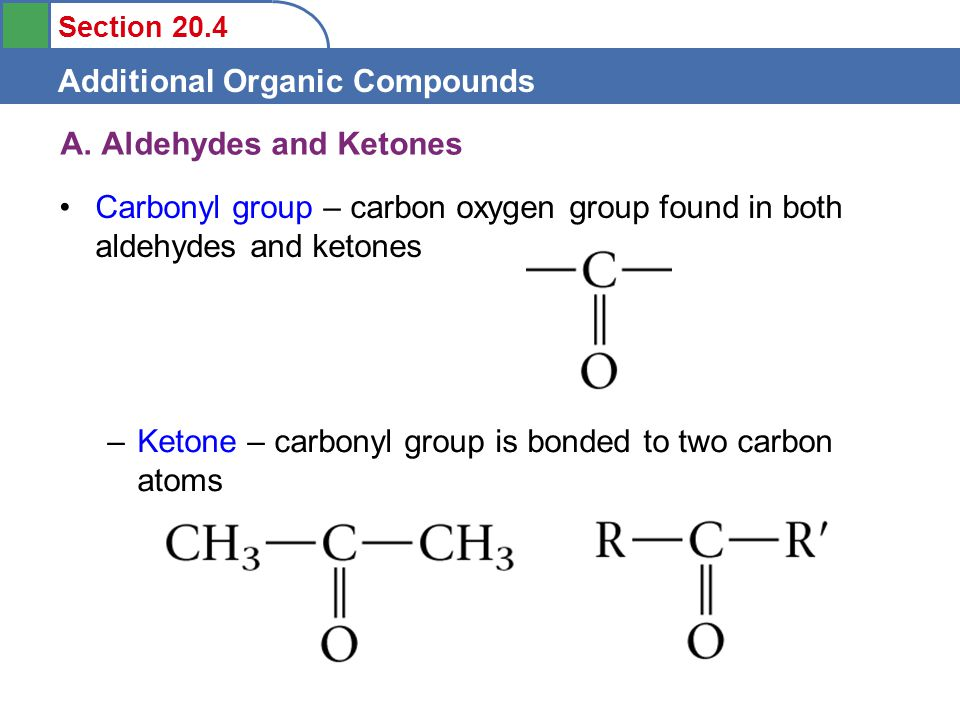 Section 20.4 Additional Organic Compounds A.