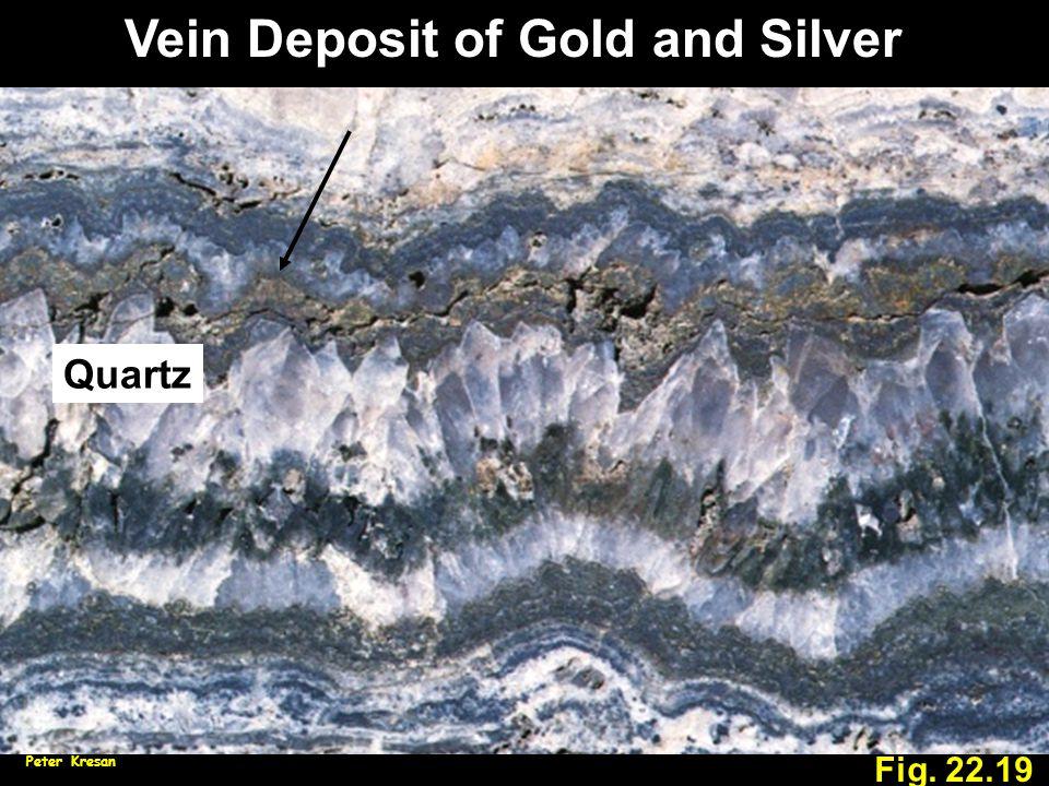 Vein Deposit of Gold and Silver Fig. 22.19 Peter Kresan Quartz