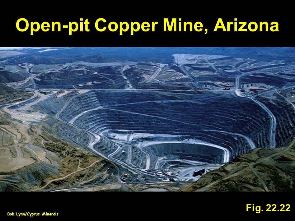 Open-pit Copper Mine, Arizona Fig. 22.22 Bob Lynn/Cyprus Minerals
