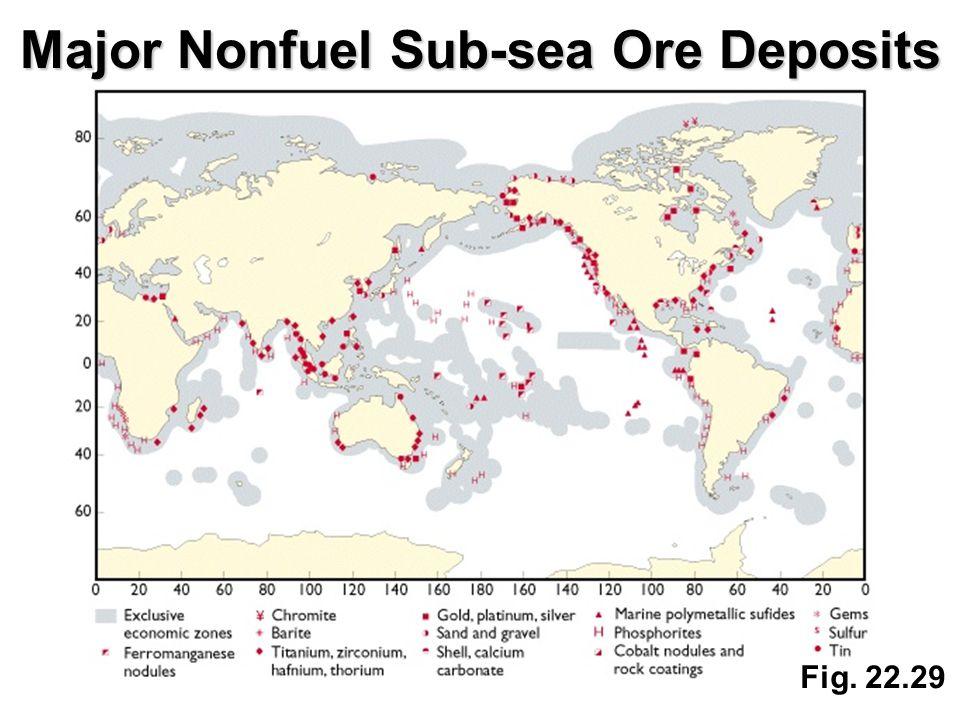 Fig. 22.29 Major Nonfuel Sub-sea Ore Deposits