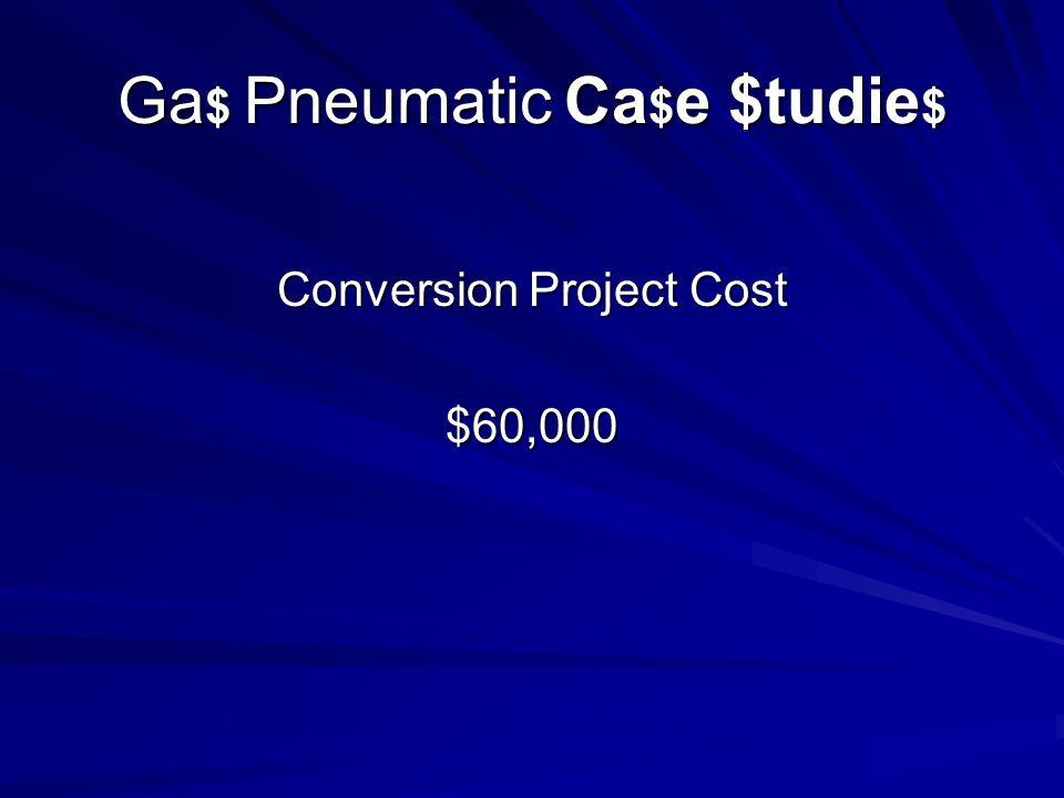 Ga $ Pneumatic Ca $ e $tudie $ Conversion Project Cost $60,000