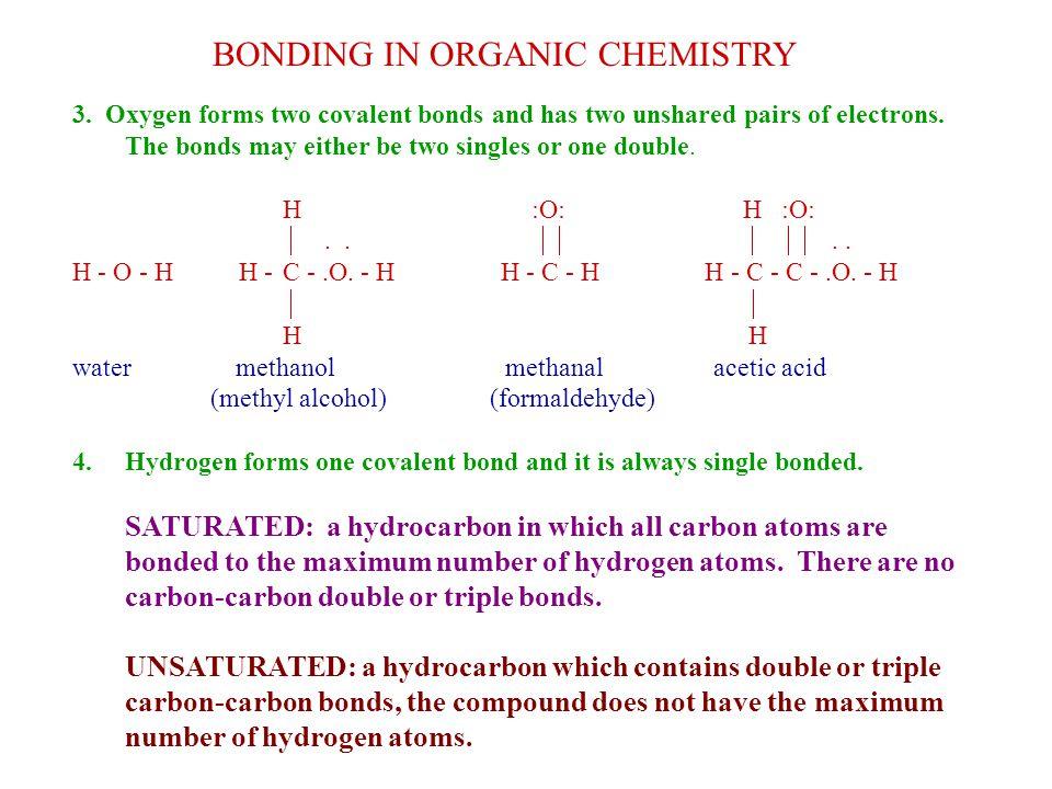 BONDING IN ORGANIC CHEMISTRY 3.
