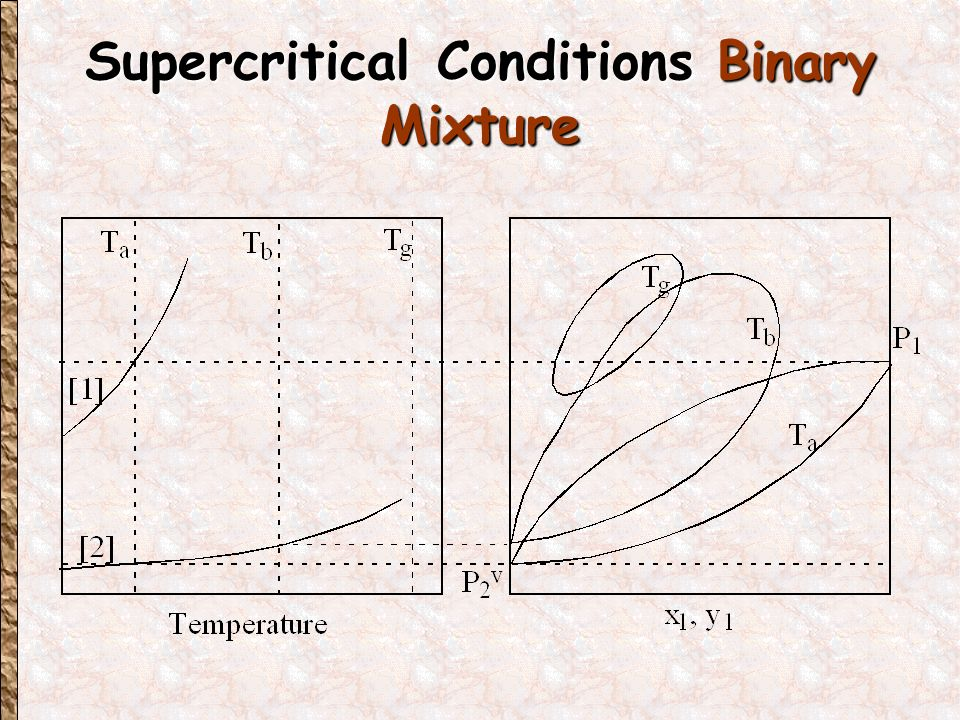 Supercritical Conditions Binary Mixture