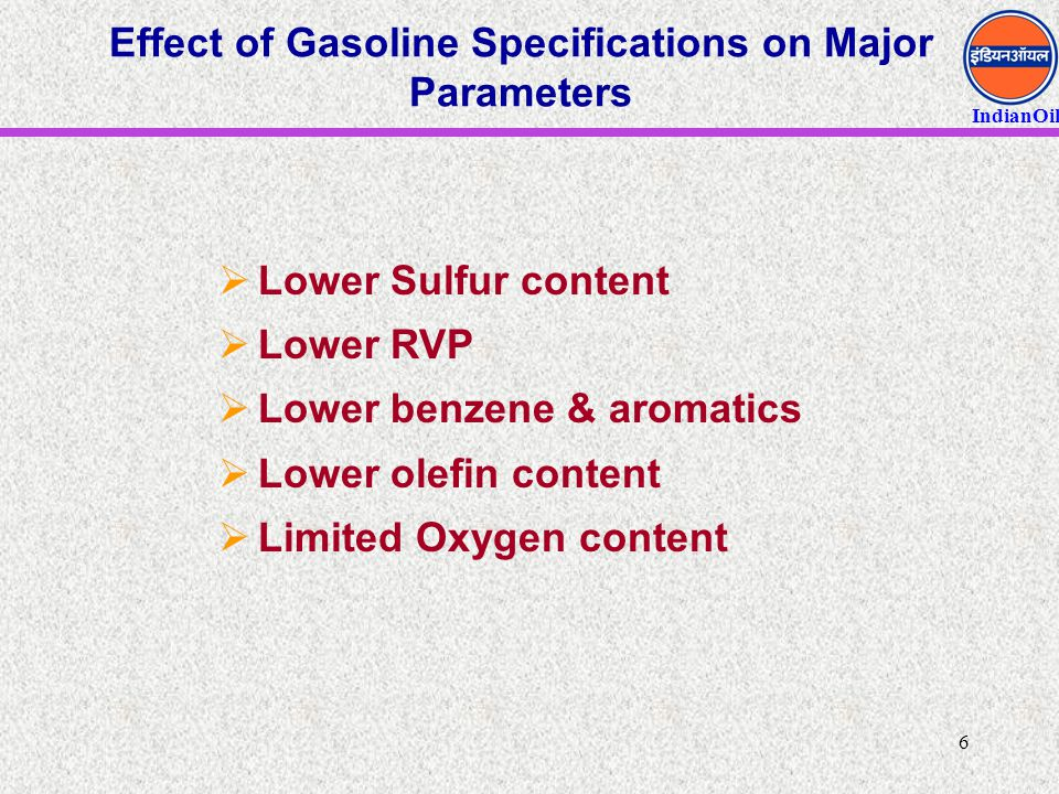IndianOil 17 Technologies for future Bio-oil refining  Thermochemical Routes from Biomass to H2  Gasification/Water-Gas Shift  Supercritical Steam/Water Conversion  Pyrolysis/Steam Reforming  Does not require tricky gas clean-up step Processing biomass has nearly zero net CO 2 impact