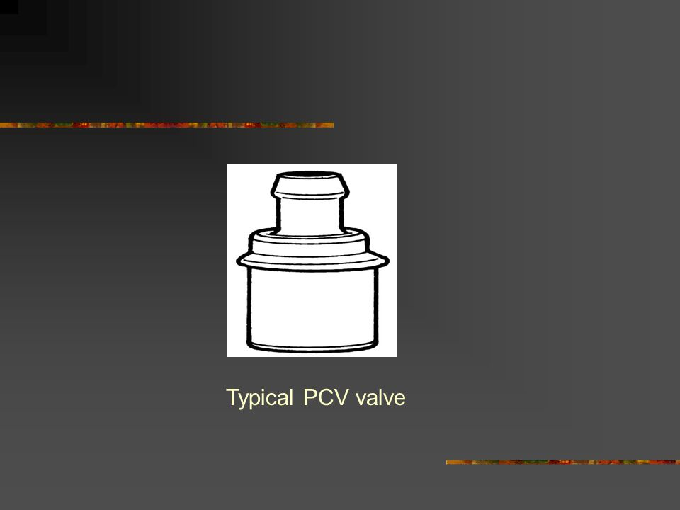 Typical PCV valve