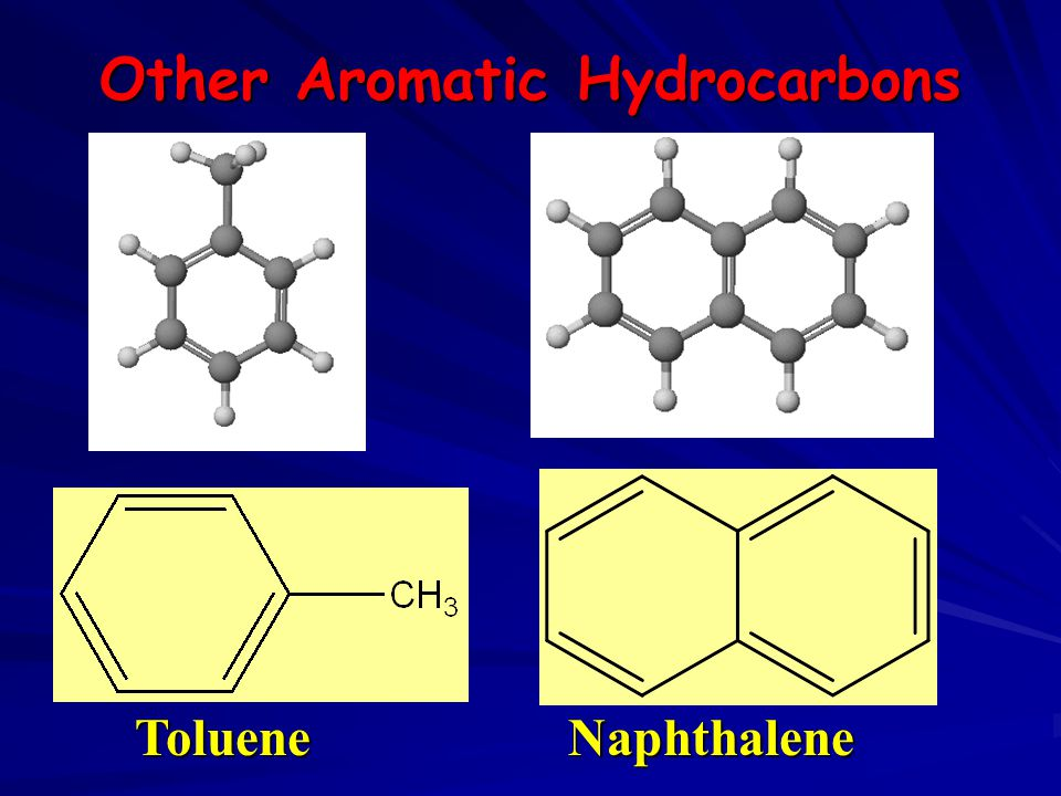 Other Aromatic Hydrocarbons TolueneNaphthalene