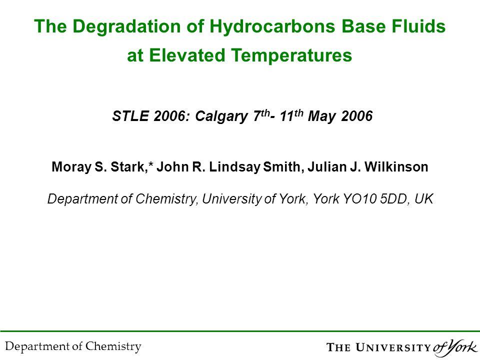 Viscosity Modelling : Effect of Polar Products Department of Chemistry  dodecane – carboxylic acid model mixtures  1:1 propanpoic acid: nonanoic acid