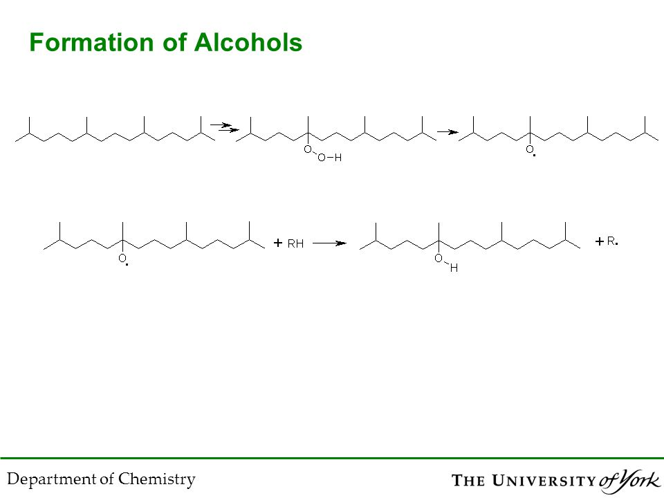 Department of Chemistry Formation of Alcohols