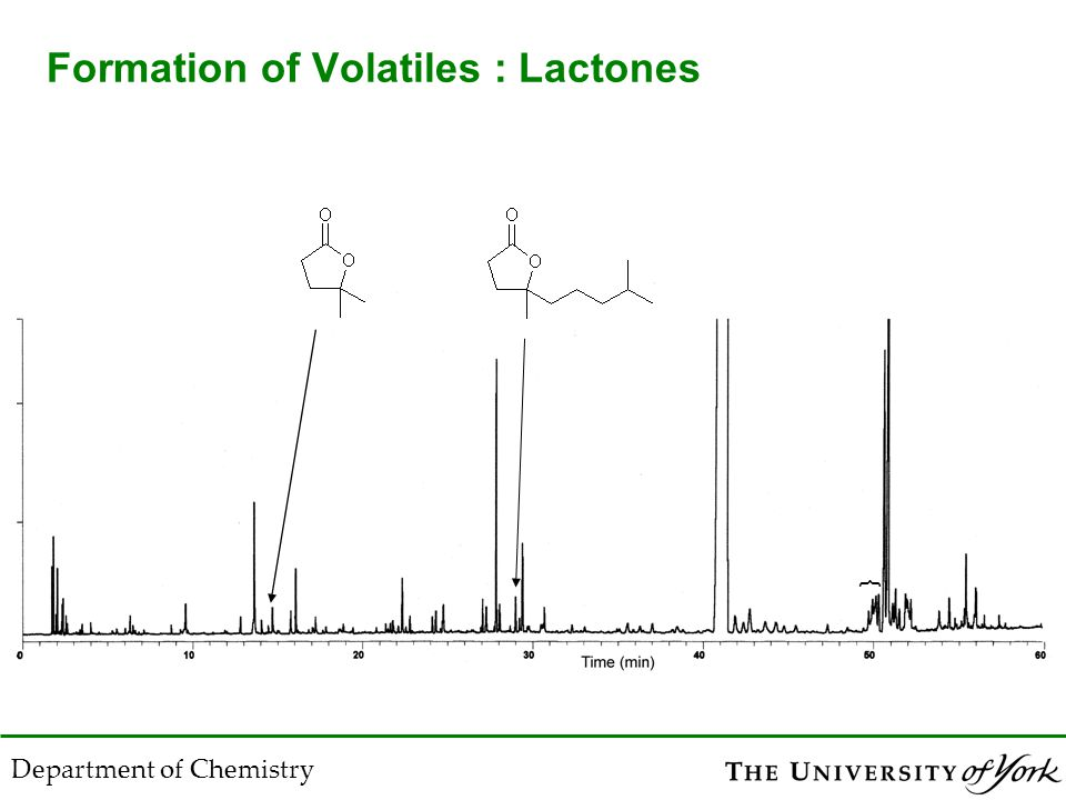 Department of Chemistry Formation of Volatiles : Lactones {