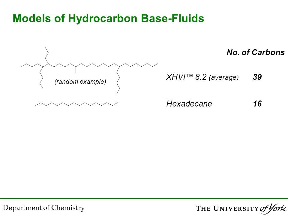Tertiary Carbons in Base-Fluids S.McKenna, M. Casserino, K.