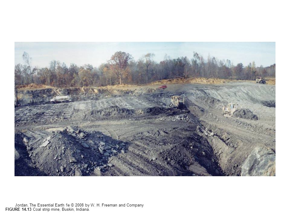 FIGURE 14.13 Coal strip mine, Buskin, Indiana.
