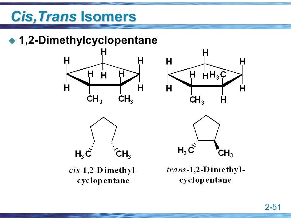 2-51 Cis,Trans Isomers  1,2-Dimethylcyclopentane