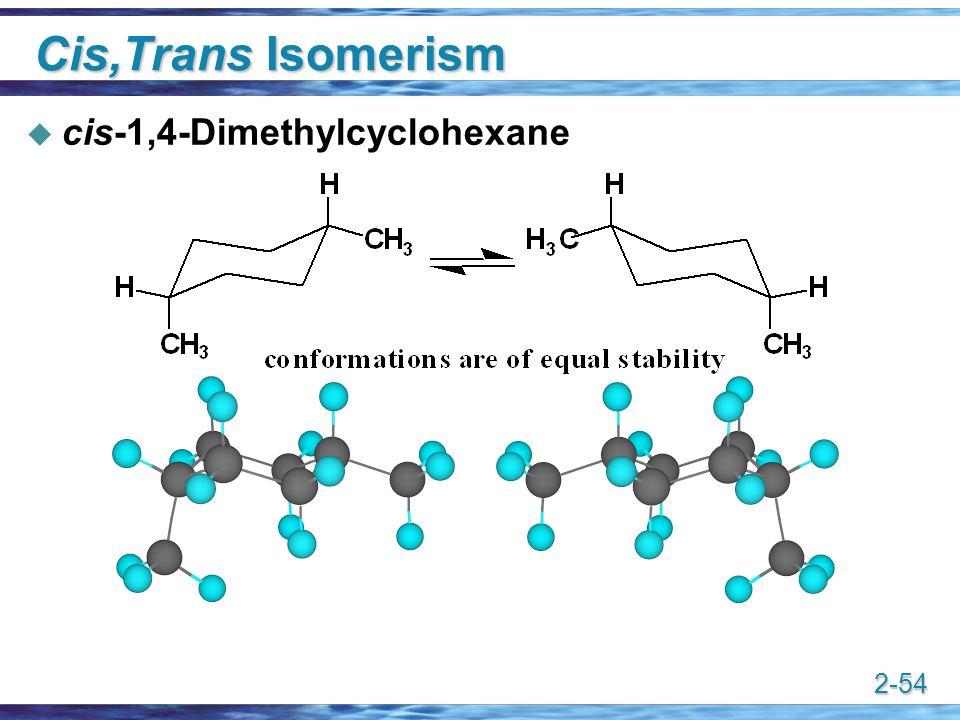 2-54 Cis,Trans Isomerism  cis-1,4-Dimethylcyclohexane